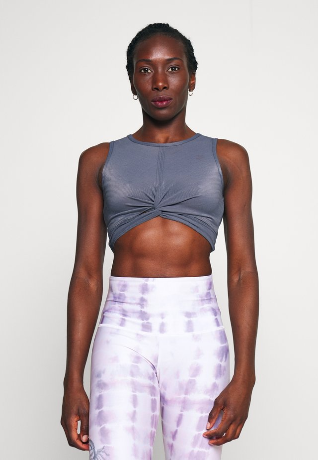 FONT TWIST CROP - Top - slate gray