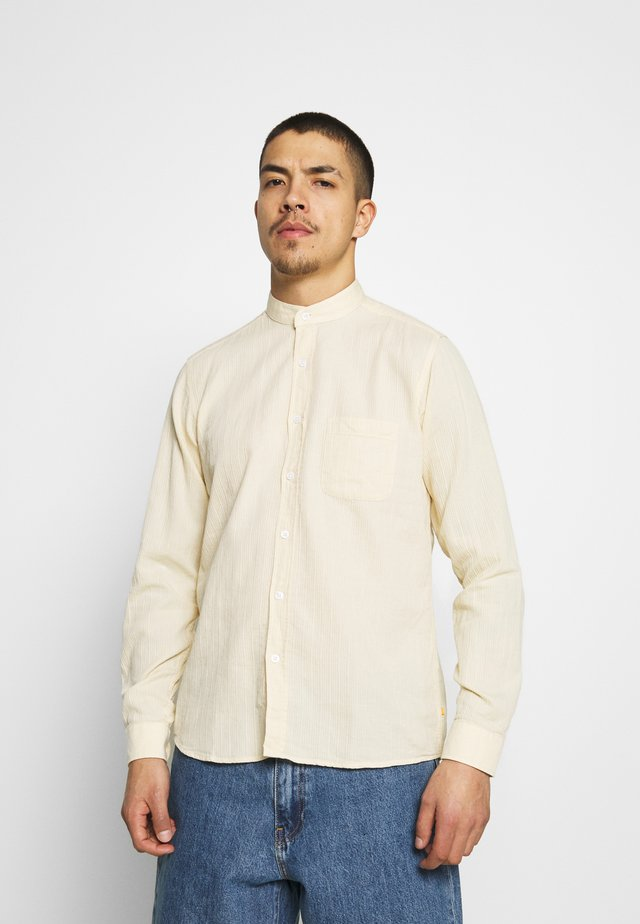 SHIRT TEXTURED STRIPE - Shirt - yellow