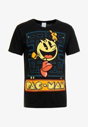 PAC MAN JUMPING - Print T-shirt - black