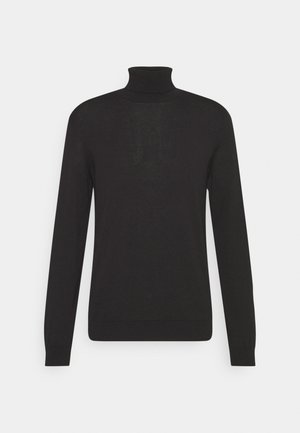 LONG SLEEVE AND ROLL NECK - Jumper - black