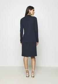 Marc O'Polo - DRESS LONG SLEEVE COLLAR BUTTON PLACKET - Jersey dress - midnight blue - 2