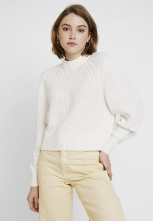 AGATA BASIC - Strickpullover - white light