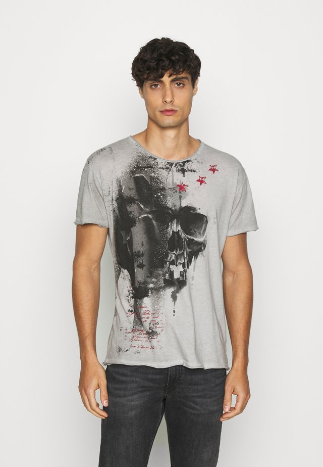 REPORT - T-shirt con stampa - silver