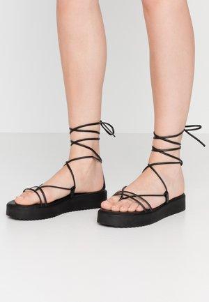 SKINNY - Sandály na platformě - black