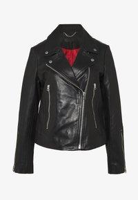 rag & bone - MACK JACKET - Leather jacket - black - 0