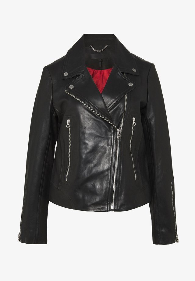 MACK JACKET - Veste en cuir - black