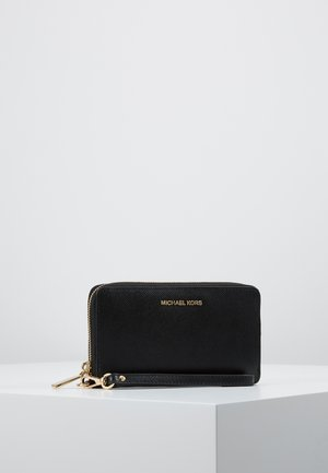 JET SET FLAT CASE CROSSGRAIN  - Lommebok - black