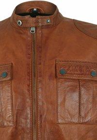 Capitano - NEBRASKA  - Leather jacket - mocca brown - 4