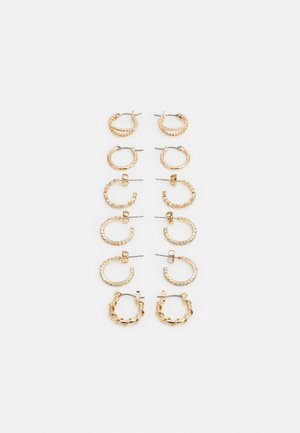 PCRIKKY EARRINGS 6 PACK - Orecchini - gold-coloured