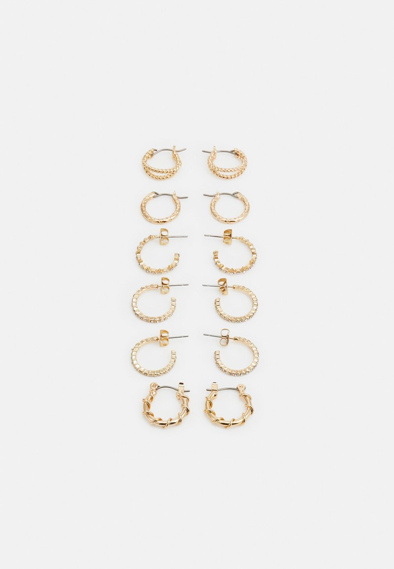 Pieces - PCRIKKY EARRINGS 6 PACK - Earrings - gold-coloured