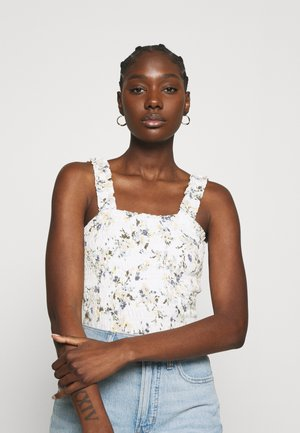 SMOCK WAIST CAMI - Top - white