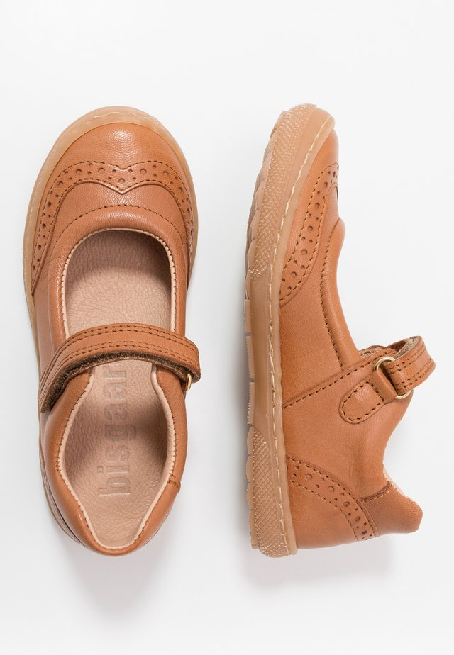 RAIN  - Ankle strap ballet pumps - cognac
