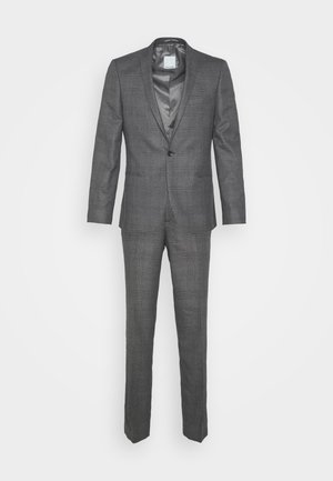 CHECK - SLIM FIT SUIT - Suit - charcoal
