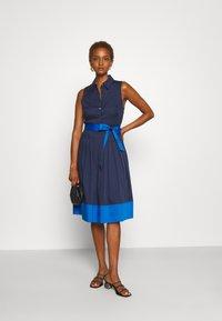 kate spade new york - POPLIN COLORBLOCK DRESS - Shift dress - squid ink - 1
