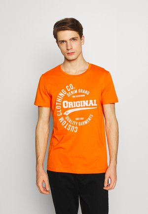 T-shirt con stampa - perfect orange  yello