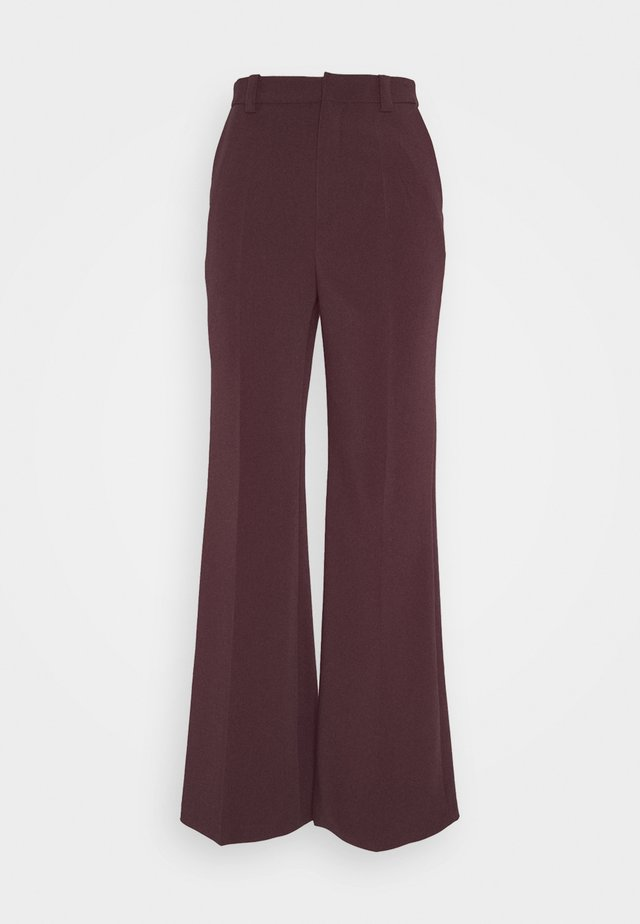 VICTORIA TROUSERS - Kalhoty - plum