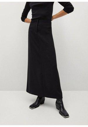 NUBE-A - Maxi skirt - svart