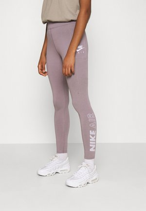 Leggings - purple smoke/white
