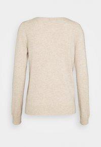 Repeat - Stickad tröja - beige - 1