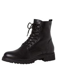 Tamaris - Šněrovací kotníkové boty - black uni - 4