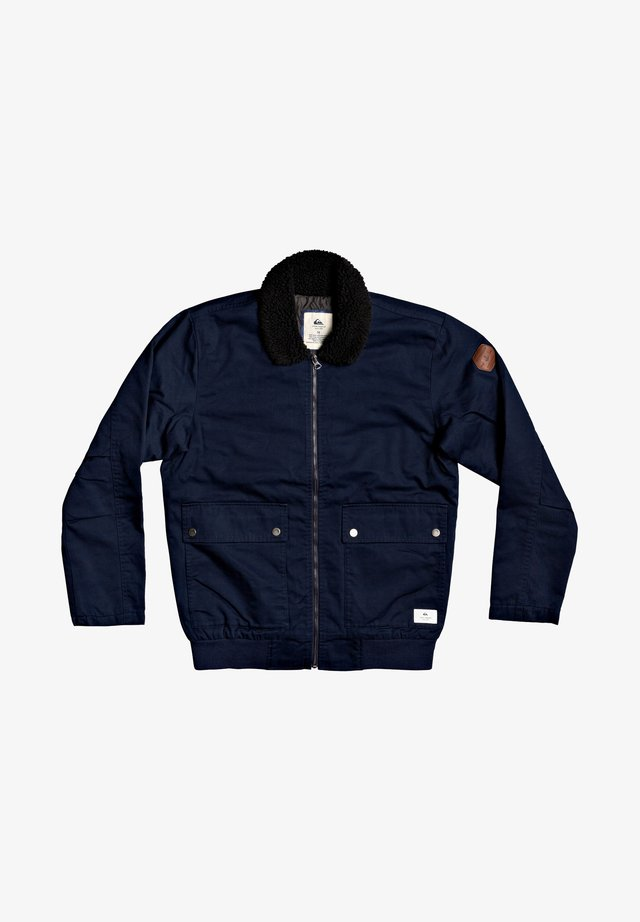 Fleece jacket - navy blazer