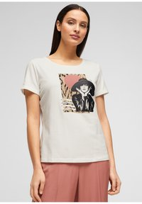 s.Oliver BLACK LABEL - MIT FRONTPRINT - Print T-shirt - white - 0