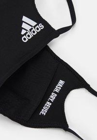 adidas Performance - FACE UNISEX 3 PACK - Stoffen mondkapje - black - 2