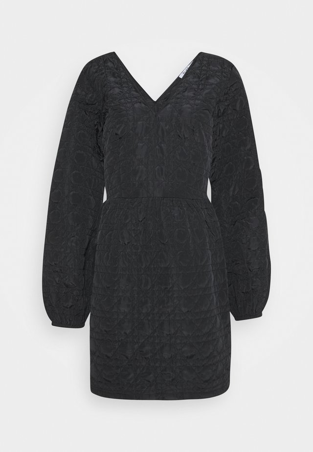 QUILTED DRESS - Day dress - black