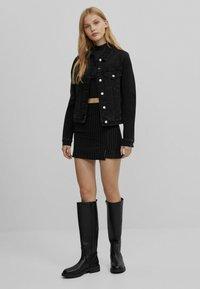 Bershka - Denim jacket - black - 1
