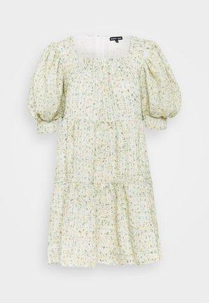 CONFETTI TWEED DRESS - Day dress - green