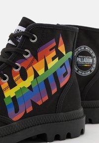 Palladium - PAMPA PRIDE UNISEX - Lace-up ankle boots - black - 5