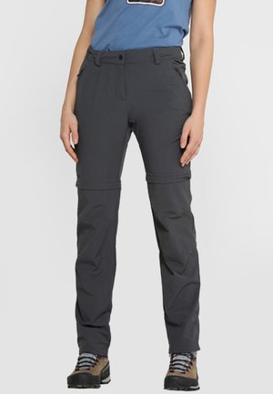ASCONA ZIP OFF - Outdoor trousers - asphalt