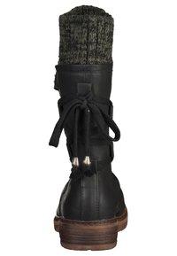 Rieker - Stivali con i lacci - black/grey - 1