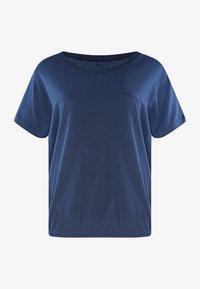 Mazine - MARBLE - Basic T-shirt - navy melange - 4