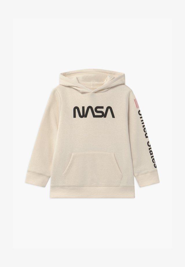 NASA LICENSE HOODIE - Mikina skapucí - beige