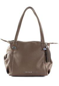 JETTE - Handbag - truffle / shiny silver - 2