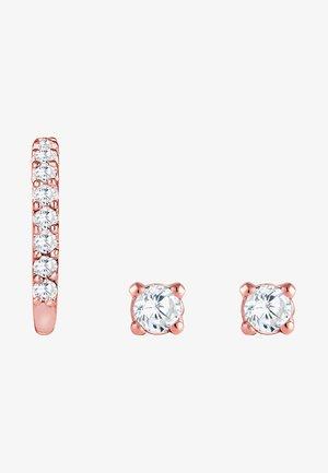 SET - Earrings - rose gold-coloured
