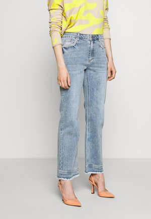 CHERYL WIDE GLAM PANTS - Straight leg jeans - blue