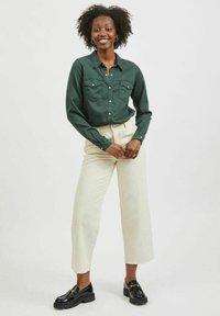 Vila - Button-down blouse - darkest spruce - 1