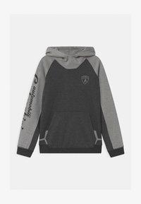 Automobili Lamborghini Kidswear - COLOR BLOCK HOODED - Sweater - grey estoque - 0
