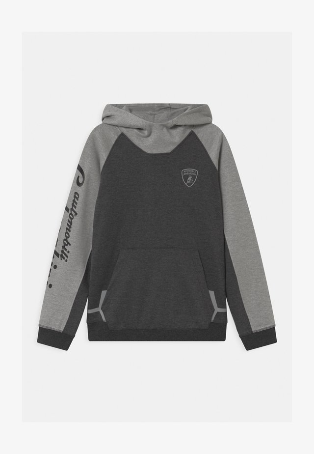 COLOR BLOCK HOODED - Sweatshirt - grey estoque