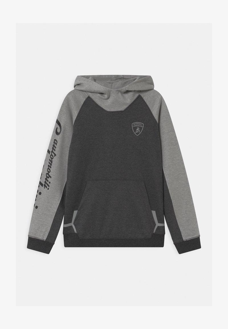 Automobili Lamborghini Kidswear - COLOR BLOCK HOODED - Felpa - grey estoque