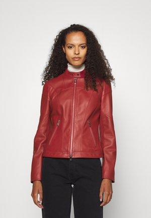 LIBRA - Leather jacket - dark red