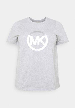 FOIL CIRCLE LOGO TEE - T-shirt med print - pearl heather