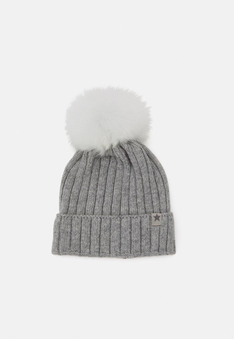 Huttelihut - WARMY FOLD UP POMPOM - Beanie - light grey/white