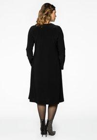 Yoek - EMBELLISHED RIBBON DETAIL - Day dress - black - 2