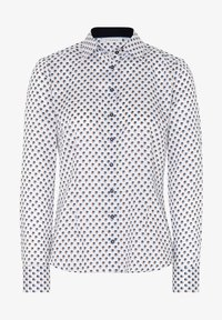 Eterna - Button-down blouse - weiss/braun/blau - 3