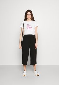 Object - OBJCECILIE NEW CULOTTE PANTS - Pantaloni - black - 1