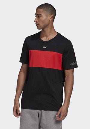 PANEL TREFOIL T-SHIRT - Camiseta estampada - black