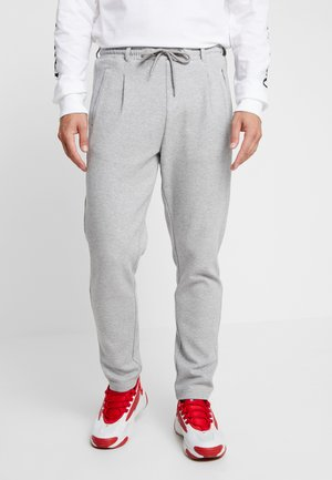 FORMULA CROPPED PEACHEDINTERLOCK PANTS - Tracksuit bottoms - black